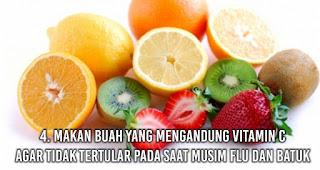 Makan Buah yang Mengandung Vitamin C Agar tidak tertular pada saat musim flu dan batuk