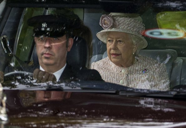 Queen Elizabeth II and Prince Andrew, Princess Beatrice, The Prince of Wales and The Duchess of Cornwall