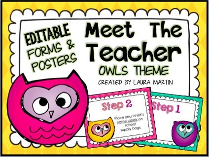 Owls Back to School ideas for Meet the Teacher and Open House