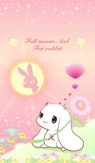 Full moon and rabbit.