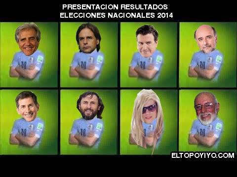 Resultados elecciones Uruguay 2014