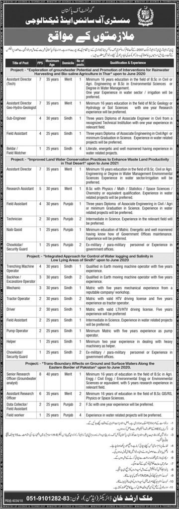 Ministry of Science and Technology Jobs