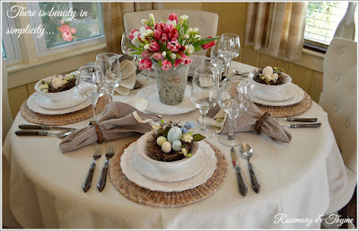 Easter tablescape decorations/spring table setting ideas
