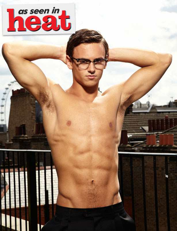 Tom Daley Shirtless for Heat