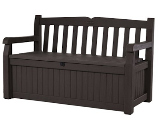 Keter Eden New All Weather Outdoor Patio Bench Deck Box