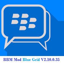 BBM Mod Blue Grid Versi 2.10.0.35 Apk