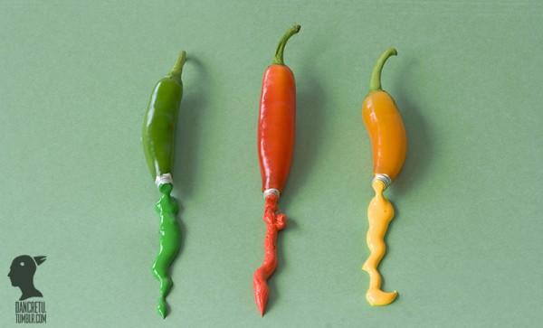 Chiles de colores