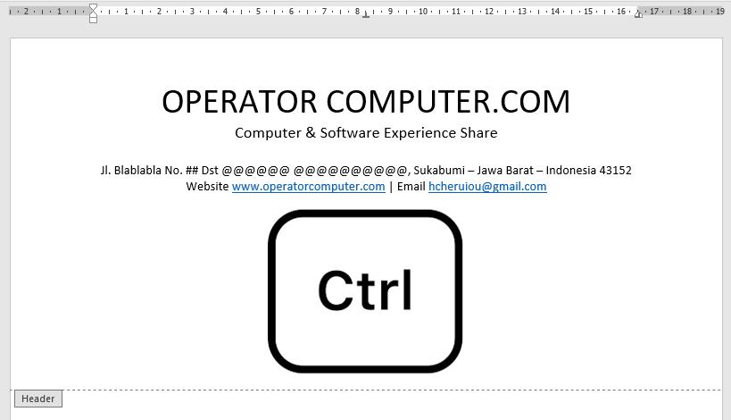 Memasukkan logo perusahaan ke dalam kop surat