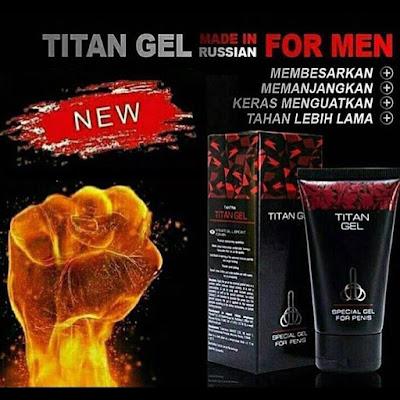 Jual Titan Gel Original Rusia Terlaris Untuk Memperbesar Penis Pria