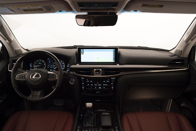Interior view of 2017 Lexus LX570