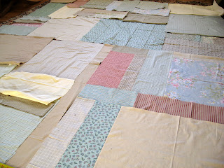 Scrappy quilt back for Sunday Morning quilt