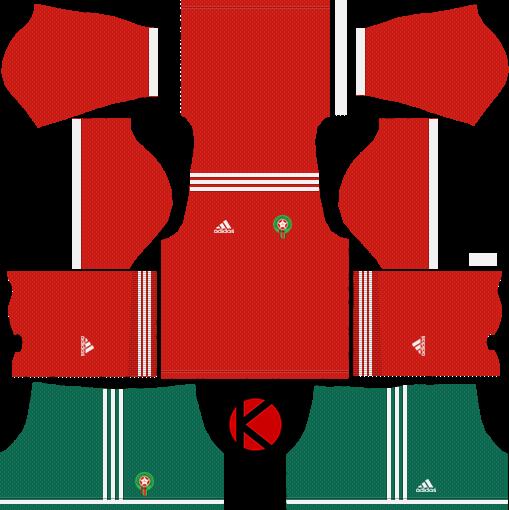 c457e15ca06 Morocco 2018 World Cup Kit - Dream League Soccer Kits - Kuchalana