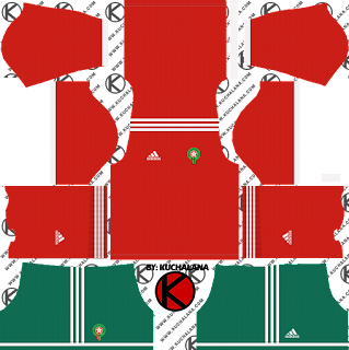 Morocco 2018 World Cup Kit -  Dream League Soccer Kits