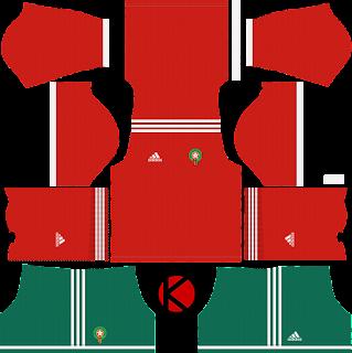 Morocco 2018 World Cup Kit -  Dream League Soccer Kits