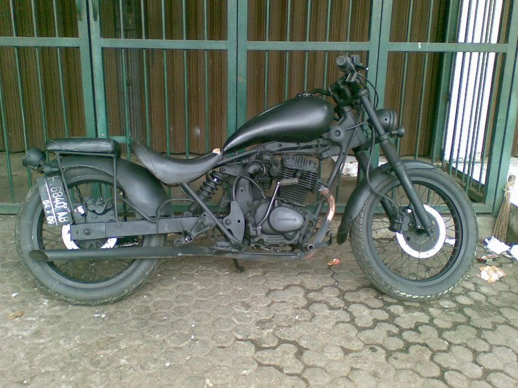 Download Image Gaya Vintage Modifikasi Motor Honda Cb PC Roid
