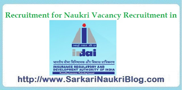 Naukri Vacancy Recruitment IRDAI