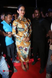 Actress Rakul Preet Singh Stills in Short Dress at Dhruva Pre Release Function  0010.JPG