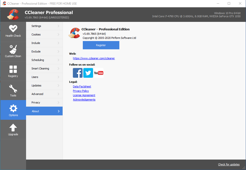 CCleaner 5.69.7865