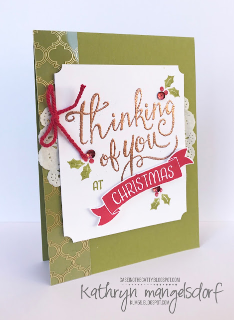 Stampin' Up! Hostess Set, Time of Year, Christmas Card created by Kathryn Mangelsdorf