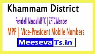 Penuballi Mandal MPTC | ZPTC Member | MPP | Vice-President Mobile Numbers Khammam District in Telangana State