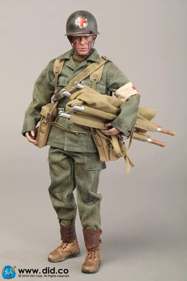 1//6 Scale DID Action Figures Bendy /& Posed Hands Dixon Combat Medic