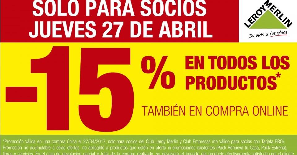 Me gusta ahorrar 15 dto para socios en leroy merlin solo hoy for Tarjeta socio leroy merlin