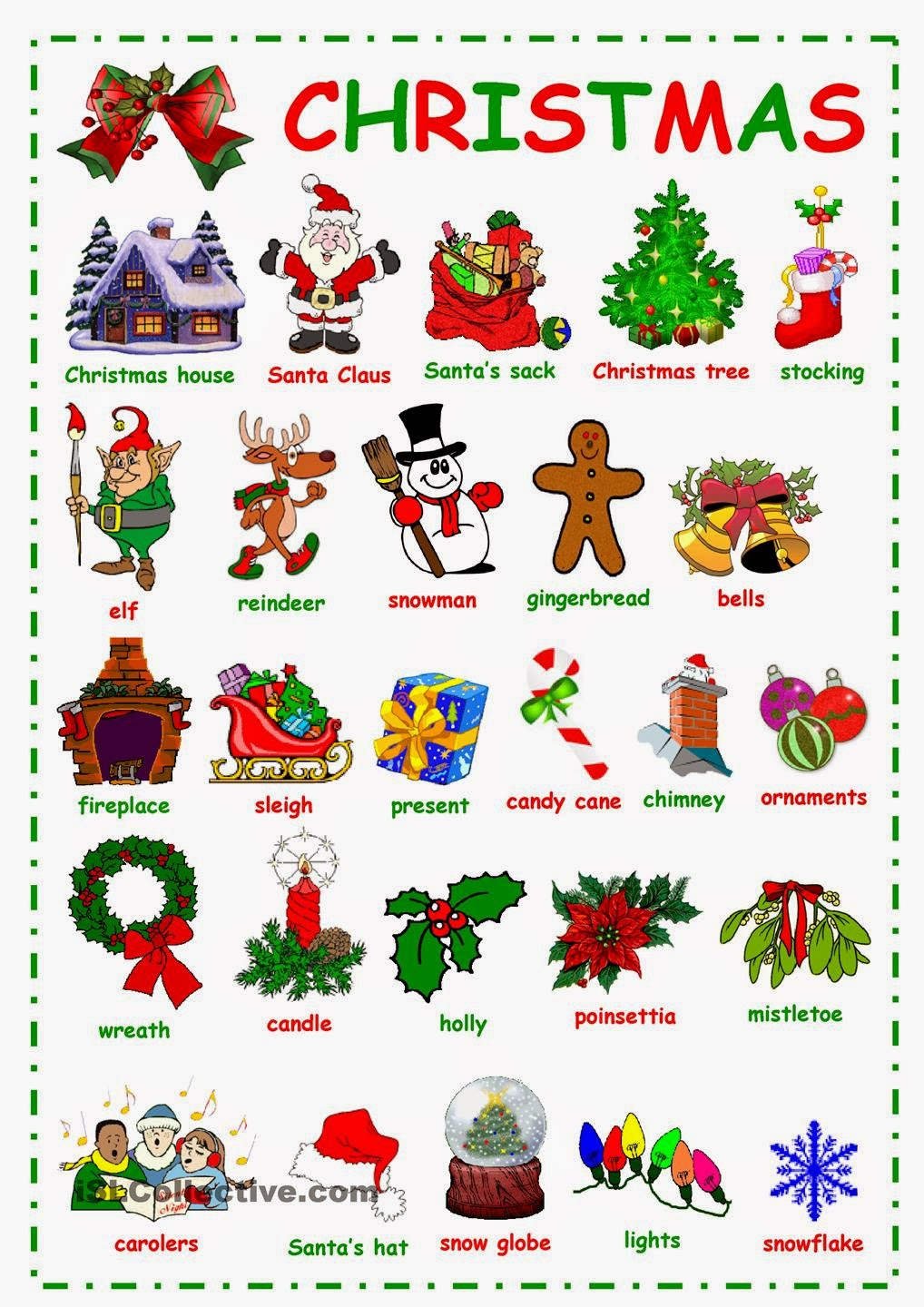 english is fun christmas words. Black Bedroom Furniture Sets. Home Design Ideas
