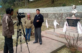 All Bharatiya Nepali ABN channel shooting in Aruna lama statue mungpoo
