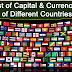 List of Capital & Currencies of Different Countries