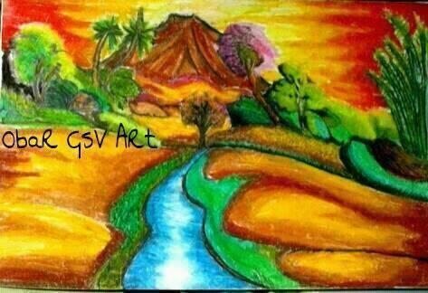 Indahnya Lukisan Krayon Karya Obar Sobarudin Dhc Indonesia