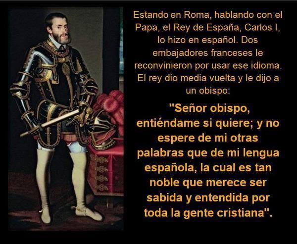 Carlos I, Papa de Roma, castellano