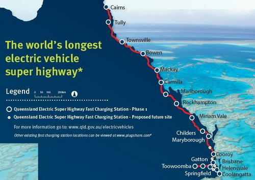 Tinuku Australia builds special superhighway for electric vehicles