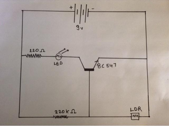 Simple Dark Sensor Circuit