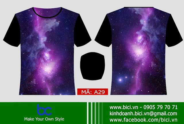 mẫu áo lớp galaxy độc đáo