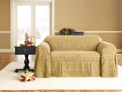Sure Fit Slipcovers Set The Tone For A Holiday Home