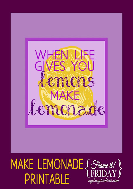 Make Lemonade printable