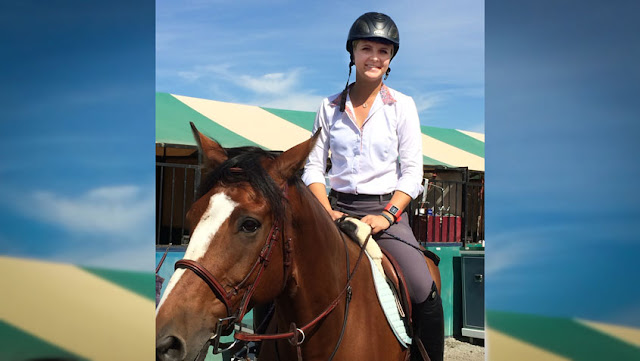 Trinity University equestrienne Chelsea Runacres