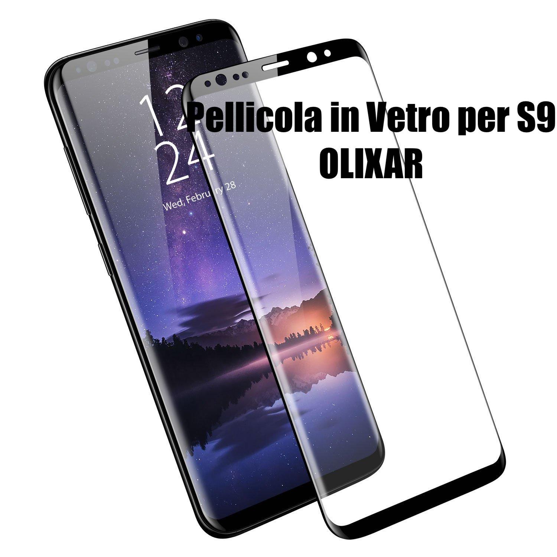 pellicola vetro Olixar per samsung s9
