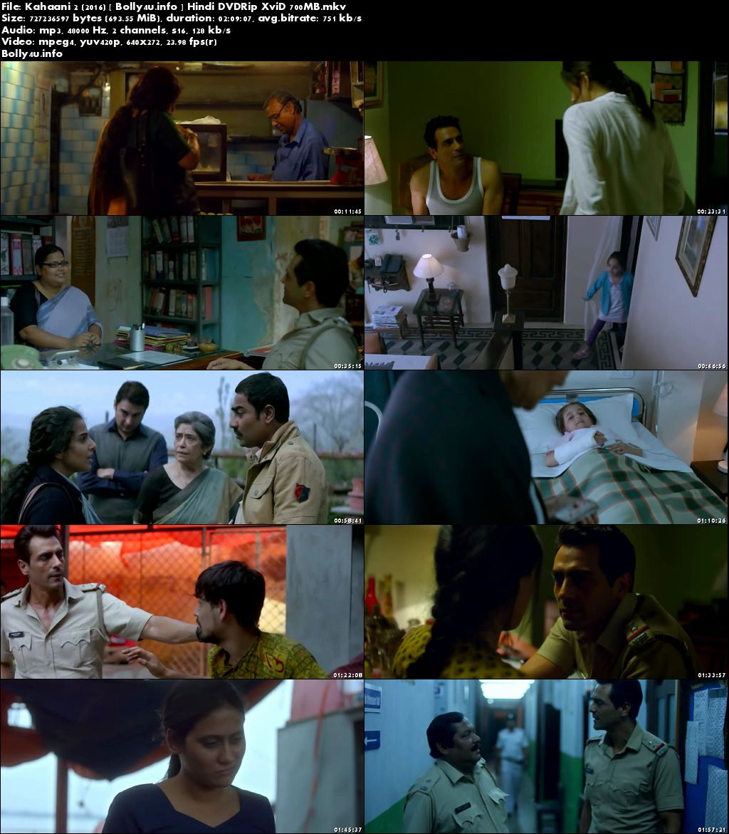 Kahaani 2 2016 DVDRip 300Mb Hindi Movie 480p Download