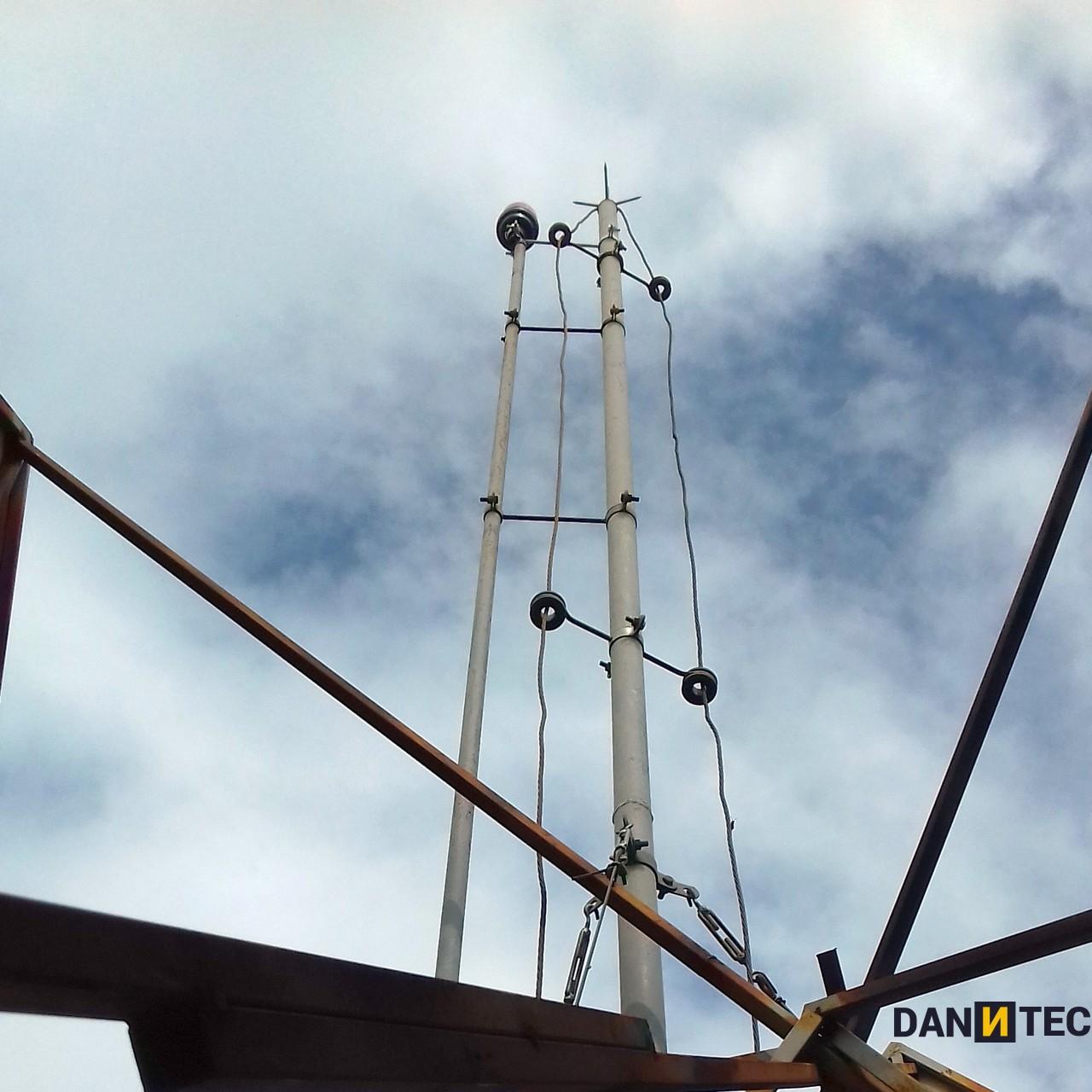 Sistema de Proteção Contra Descargas Atmosféricas - SPDA - para raio