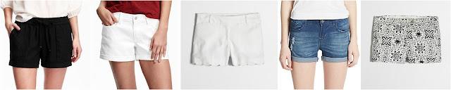 Old Navy Cuffed Linen Shorts $18 (reg $25) Old Navy Boyfriend Shorts $20 (reg $25) J. Crew Factory Scalloped Hem Shorts $25 (reg $50) Kensie Jeans Distressed Shorts $25 (reg $48) J. Crew Factory Printed Chino Shorts $30 (reg $50)