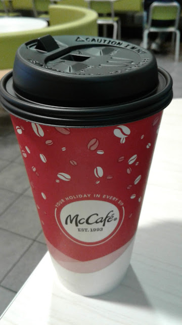 large McDonald's coffee cup container