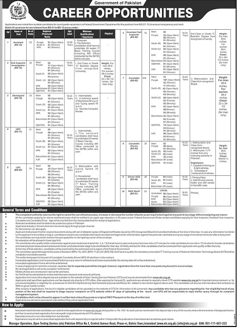 FIA Jobs 2019 Federal Investigation Agency Jobs 2019