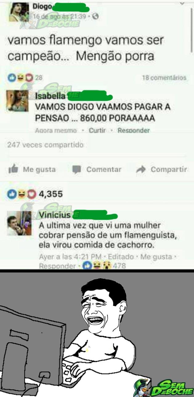 COBRANDO PENSÃO NO FACEBOOK
