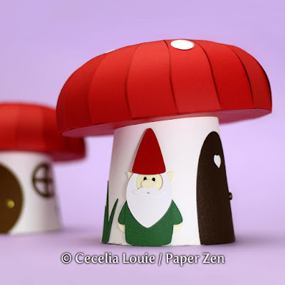 Paper Mushroom Gift Box SVG File for Cricut Explore Silhouette