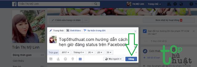 Hướng dẫn cách hẹn giờ đăng status trên Facebook