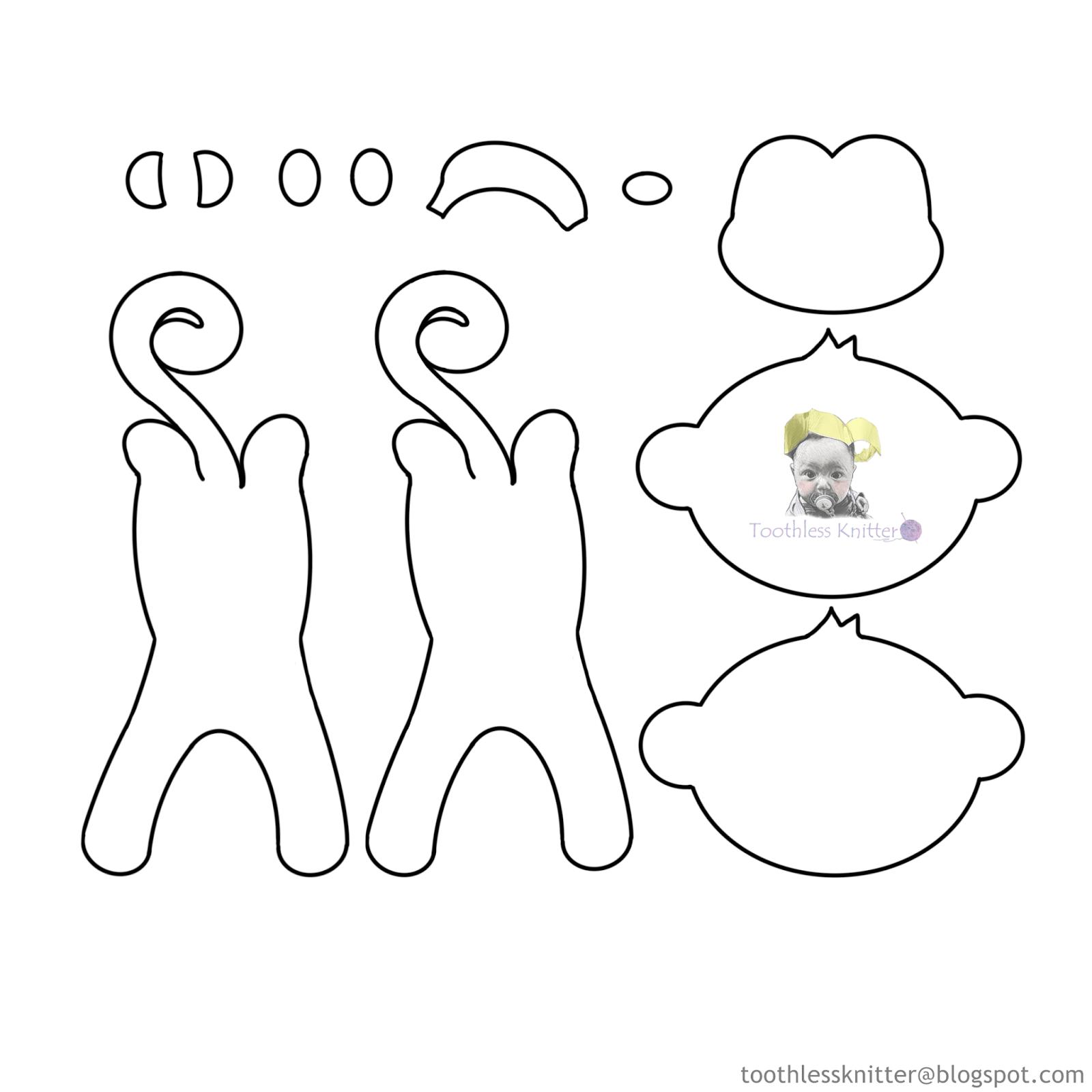 Felt Baby Name Banner for Nursery - Monkey/ Filcowy Baner Imienny do Pokoju Dziecięcego - Małpa