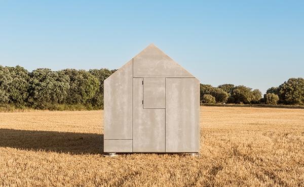 yang sanggup diangkut dari satu daerah ke daerah lain dan sanggup dirakit hanya dalam satu ha Desain Rumah Portabel Minimalis