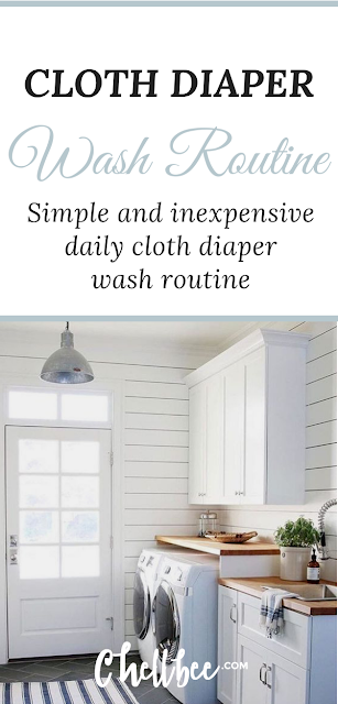 Cloth diapering | Learn how to master this easy cloth diapering wash routine. This cloth diapering wash routine works for stay at home Moms and busy working Moms. #clothdiaper #clothdiapering