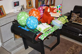 Birthday-son-presents-table-football-Pumba-cards-grotto